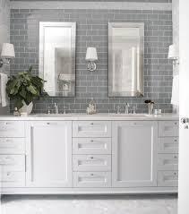 White Cabinet Bathroom Ideas Bathroom Design Gray Subway Tiles Grey Bathroom Ideas Tile