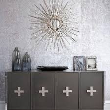 metallic silver wallpaper design ideas