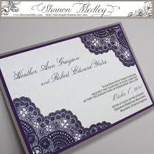 Lace Wedding Invitations Purple Vintage Lace Wedding Invitation Elite Wedding Looks
