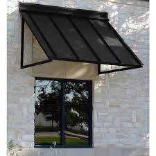 beauty mark 3 ft houstonian metal standing seam awning 24 in h