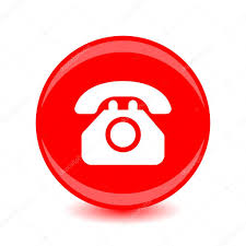 vector phone icon white silhouette on a red background u2014 stock