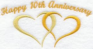 10 wedding anniversary 10th anniversary cliparts free clip free clip