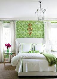 Floral Bedroom Ideas Green Floral Bedroom With Wallpaper Theme