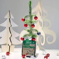Pre Lit Mini Christmas Tree - manificent design christmas tree in a box seasonal specialties