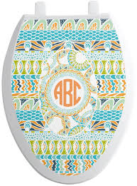 teal ribbons teal ribbons labels toilet seat decal personalized potty