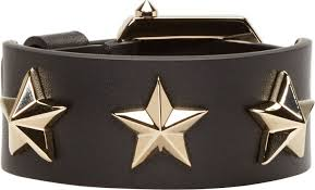 leather star bracelet images Givenchy black leather star studded bracelet where to buy how jpg