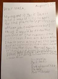 nasa u0027s response to a 4th grade letter asking for planetary defense