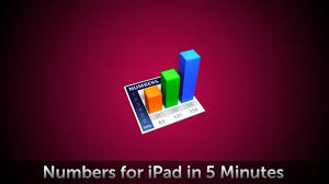Simple Spreadsheet For Ipad Numbers For Ipad In 5 Minutes Youtube