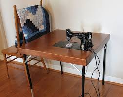 fold away sewing machine table singer featherweight reproduction folding sewing tables travel