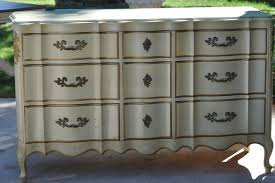 painted french provincial triple dresser
