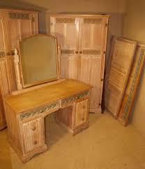 antique bedroom suite limed oak linenfold 102379