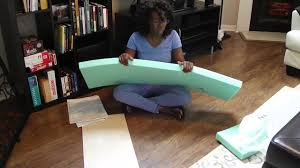 bench cushions ideas how to make a box cushion cover with velcro