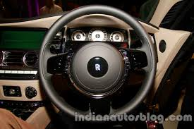 wraith roll royce rolls royce wraith launched in india steering wheel indian autos