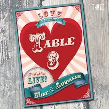 themed table numbers carnival table numbers circus themed wedding table numbers