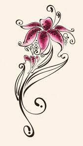 Leopard Print Flower Tattoos - image detail for lilies swirls leopard print 2 by brittneystar