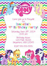 template classic my little pony royal invitation designer game