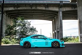 frs car black forgestar 18x9 5 18x11 gloss black f14 wheels for rocket bunny