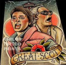 great scott back to the future art print