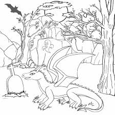 kids halloween dragon coloring pages color free puff