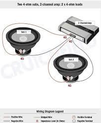4 ohm subwoofer wiring diagram wiring diagrams