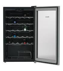 hisense home theater hisense hr6wc29 29 bottle wine cooler fridge with 5 shelves