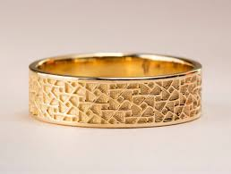 mens yellow gold wedding bands men s yellow gold wedding ring men s gold wedding band textured