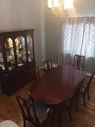 ethan allen georgian court dining room set with cabinet common