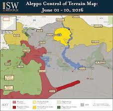 Terrain Map Aleppo Control Of Terrain Map Jun 1 10 2016 Institute For The