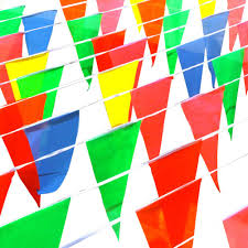 International Bunting Flags 8 10m Multicolor Triangle Pennant Banner Bunting Flags Party Grand