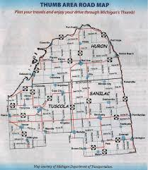 up michigan map welcome to the thumb area tourism council