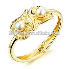 gold bangle bracelet design images Tanishq gold bracelet designs jewellery big pearls womon cuff jpg