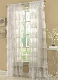 Lace Shower Curtains Sheer Valance Lace Shower Curtain Foter