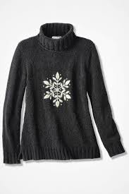 snowflake sweater snowflake embroidered chenille sweater coldwater creek