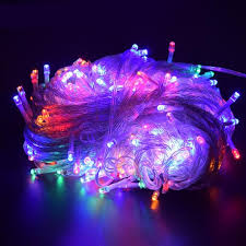 halloween purple led string lights outdoor halloween christmas led string lights ac220v ip44 10m 100led