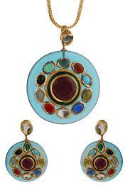 necklace set blue stone images Dilan jewels pure collection navratna jadau blue stone kundan jpg