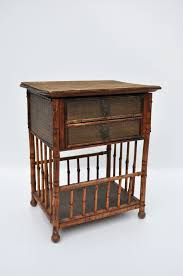 Rattan Side Table Vintage Bamboo And Rattan Side Table Mecox Gardens