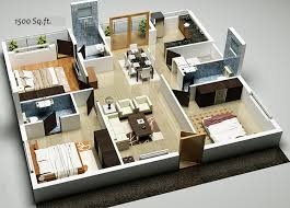 fascinating d home plan sq ft including house designs pictures 3d