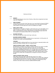 sample catering contract template sample catering contract