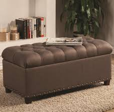 Upholstered Storage Ottoman Tufted Storage Bench Also Small Fabric Bench Also Diy Tufted