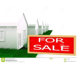group of houses on sale stock image image 12709281