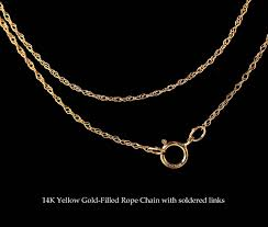 gold filled necklace images 14k yellow gold filled rope chain 24 quot featherdust studio jpg