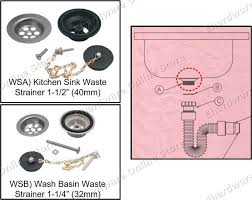 WASH BASIN KITCHEN SINK WASTE STRAINER PARTS WS OPEN STOCK With - Kitchen sink waste strainer