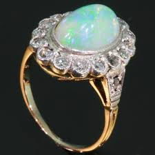 vintage opal engagement rings vintage opal engagement ring diamonds setting images by adin
