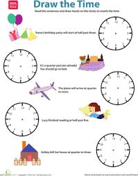 quarter till vs quarter past draw the time worksheet