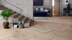 Herringbone Laminate Flooring Uk Oak Smoked White Herringbone Engineered Parquet
