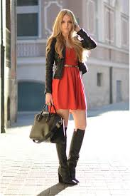 dresses with boots zara boots dresses givenchy bags crimson christmas