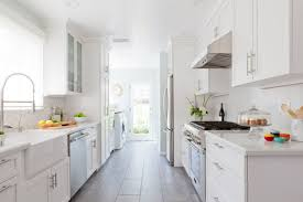 kitchen design wonderful cool galley kitchen all white