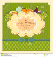 feliz thanksgiving day happy thanksgiving invitation card design stock illustration