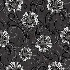 a s creation liberty dark grey u0026 white floral wallpaper