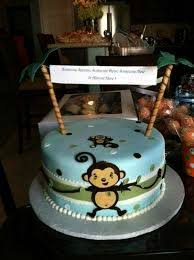 monkey baby shower cake monkey baby shower cake beautiful baby shower monkey cakes 6